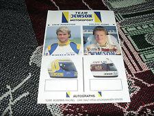 1990 información de controladores F3 británico tarjeta fotográfica-jewson-Steve Robertson Philippe Adams