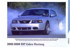2003 2004 Ford Mustang SVT Cobra S/C 4.6 L 390 hp Info/Specs/photo/price 11x8