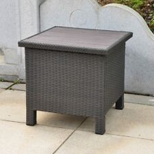Barcelona side table (aluminum resin) black antique- includes shipping