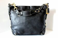 COACH Black Large CARLY HOBO SHOULDER SATCHEL BAG HANDBAG PURSE VGC 10616