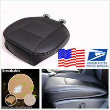 Black Universal PU Leather Bamboo Charcoal Car Vehicles Seat Cushion Mat 53*54cm