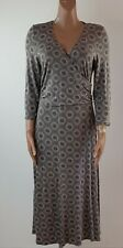 Boden Taupe Mock Wrap Dress 16L