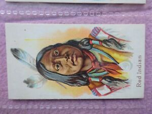 TADDY - NATIVES OF THE WORLD # RED INDIAN - SUPER GRADE - 6 CLOSE UP PHOTOS