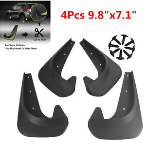 4Pcs Car Mud Flaps Splash Guards Mudflaps Mudgurads Fender  Front Rear Universal