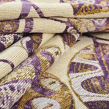Púrpura Beis Floral Inspirado Diseño De Hoja Suave Tejido Felpilla