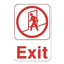 Thunder Group Plis6907Rd Exit Information Sign with Symbols, 6 by 9-Inch
