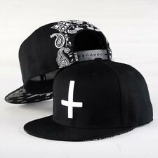 Men Women Baseball Cap jesus Cross Printing Hip Hop Cap Flat Snapback Peak Dome