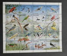 Malawi 1992 Birds sheet 20 stamps set