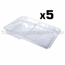 "5 x Prodec Moulded Plastic Tray Liners for 9"" Paint Rollers for Multi Colours"