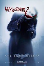 "THE DARK KNIGHT Movie Silk Poster 11""x17"" Batman The Joker Why So Serious?"