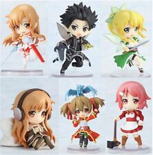 6X Sword Art Online Action Figure Asuna with Sword PVC Figure collection Kid Toy