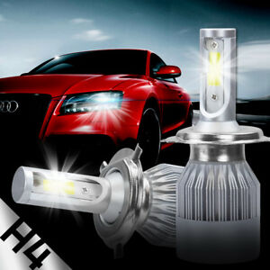 2x CREE H4 488W 48800LM LED Headlight Hi-Lo Beam Car Light Bulbs 9003 HB2 Kit