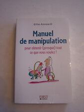 MANUEL DE MANIPULATION , POUR OBTENIR TOUT CE QUE VOUS VOULEZ !  BON ETAT .