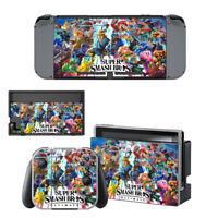 Nintendo Switch Skin Sticker Decal Cover Vinyl Protector SUPER SMASH BROS