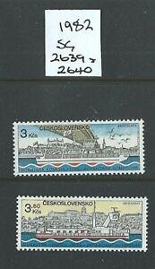 CZECHOSLOVAKIA 1982 - Set of 2 - DANUBE COMMISSION - SG 2639/40 - Mint MNH