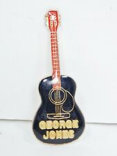 """GEORGE JONES GUITAR, Country Music, Vintage Tie Tack Pin, Cloisonne Enamel 2"""""""