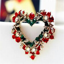 Amor de Navidad coronas de corazón broches de pecho broches regalo encantadorSE