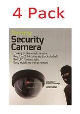 4 Pack Dummy SECURITY LED DOME CAMERA Flashing Light Fake Surveillance CCTV