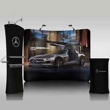 10ft Portable Curved Fabric Trade Show Display Booth Pop Up Stand Backdrop Wall