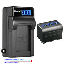 Kastar Battery LCD Wall Charger for Sony NP-QM71D Sony Video Walkman GV-D1000