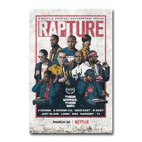 Rapture TV A Boogie Wit Da Hoodie Logic Dominique Art Silk Canvas Poster Print