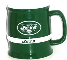 New York Jets Coffee Mug Green White Cup NFL Football Tankard  New