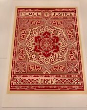 Shepard Fairey Peace And Justice Print Numbered OBEY GIANT like floral takeover