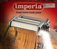 IMPERIA Pasta Maker Tagliatelle And Fettuccine Red Chrome Made In Italy Ugly Box