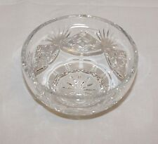 Rogaska Cut Crystal Signed Clear Candy Dish Bowl 4.75 inches