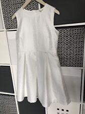 NEW YUMI girl Ivory-White Party Dress age 13-14 years (fit & flare) with Sparkle