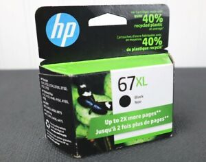 GENUINE HP 67XL High Yield Black Ink Cartridge OEM Exp 09/2022 3YM57AN NEW