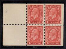 Canada Sc 197d 1933 3c deep red G V Medallion bklt pane of 4 mint Free Shipping