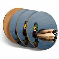 4 Set - Cute Swimming Mallard Ducks Coasters Kitchen Drinks Coaster Gift #14214