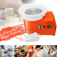 350W Electric Pottery Wheel Machine Ceramic Clay Art Foot Pedal DIY Craft