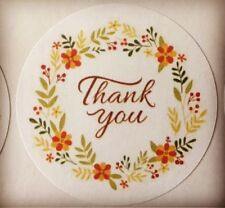 "60 Thank You with Flower Ring !!! ENVELOPE SEALS LABELS STICKERS 2"" Round*****"
