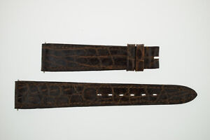 OMEGA NOS Vintage Leather Watch Strap Brown 17/14 17mm (B216)