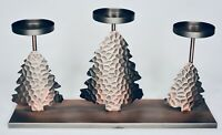 Bath & Body Works Copper 3 Trees Candle Pedestal Sleeve Holder for Mini Candles
