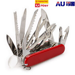 Multifunction Pocket Knife Survival Swiss Army Tactical Folding Outdoor Camping