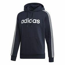 Adidas Core Hombre Deporte Jersey Essentials 3 Rayas Jersey Polar Azul Blanco