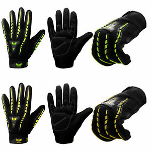 Cycling Gloves High Visibility Full Finger Mountain Bike BMX MTB Riding Thermal