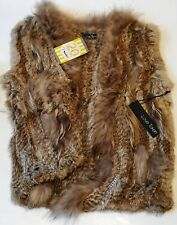 Love Token Fur Vest NWT Size Small *Real 100% Rabbit Fur/Racoon