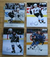4 Autographed Colorado Avalanche Photos COA FREE SHIP Galiardi Jones Lacroix NHL