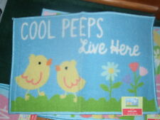 """COOL PEEPS LIVE HERE 20"""" X 30"""" Printed Accent Rug  NEW Blossoms And Blooms"""