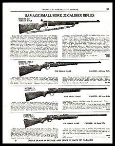 1940 SAVAGE Model 19 Target 23AA..3 and 4 Game Rifle PRINT AD w/original prices