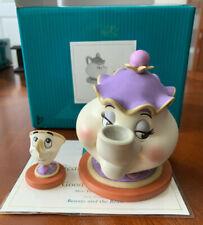 "WDCC Disney Beauty and the Beast Mrs. Potts & Chip ""Good Night Luv""  Box & COA"