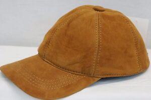 100% REAL GENUINE LAMBSKIN SUEDE LEATHER Baseball Cap Hat Sport Visor 36 COLORS