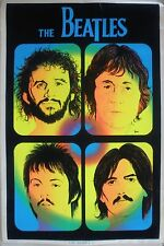 RARE THE BEATLES 1981 VINTAGE ORIGINAL BLACK LIGHT MUSIC POSTER