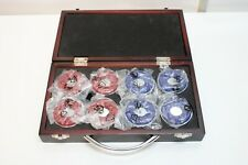8 Table Shuffleboard Pucks / Weights Red & Blue w/ Case