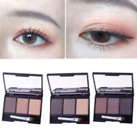 3 Colors Eyebrow Powder Palette Cosmetic Makeup Shading Kit Set + Brush Mirror