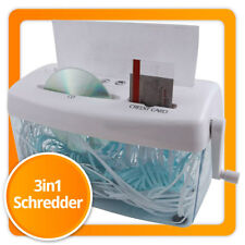 Aktenvernichter Papierschredder Reißwolf Schredder für Papier 3in1 Shredder